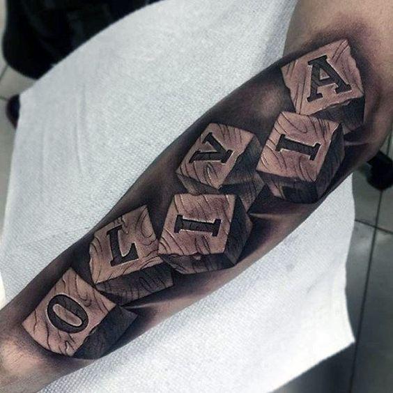 Hình xăm chữ cánh tay đẹp, ý nghĩa nhất