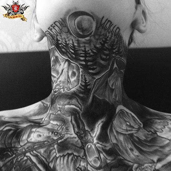 Xu hướng xăm cổ cực chất dành cho cả nam và nữ tại Rio Tattoo Studio